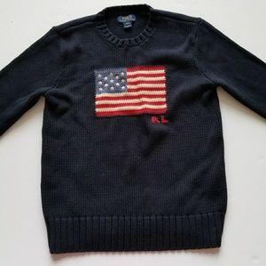 Polo Ralph Lauren USA American Flag size L